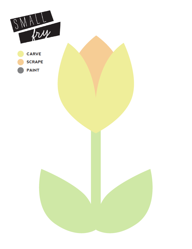 Tulip Pumpkin Carving Template