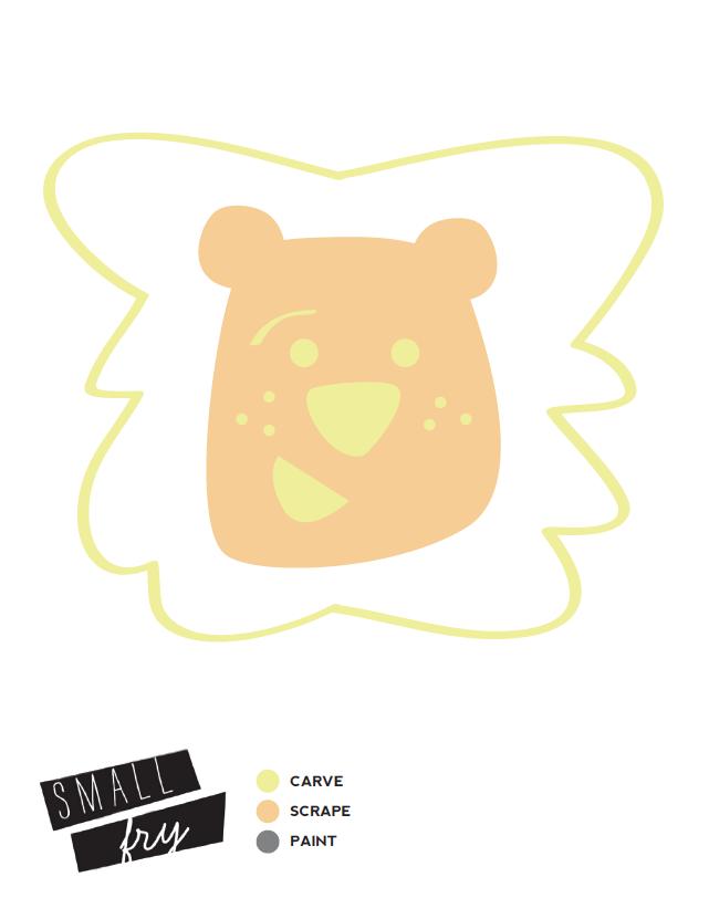 Lion Pumpkin Stencil