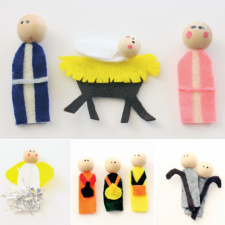 Finger Puppet Nativity Details