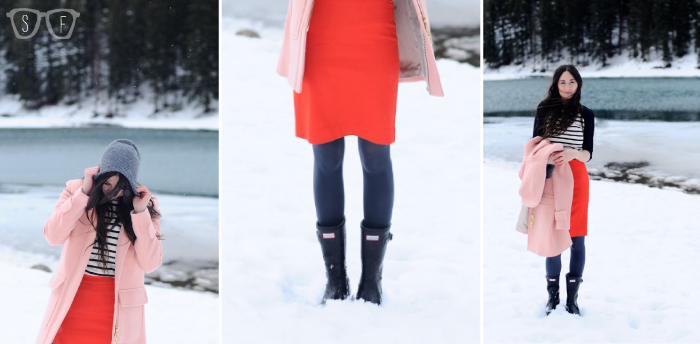 style, fashion, mom, jcrew, classic, hunter boots, winter, beanie