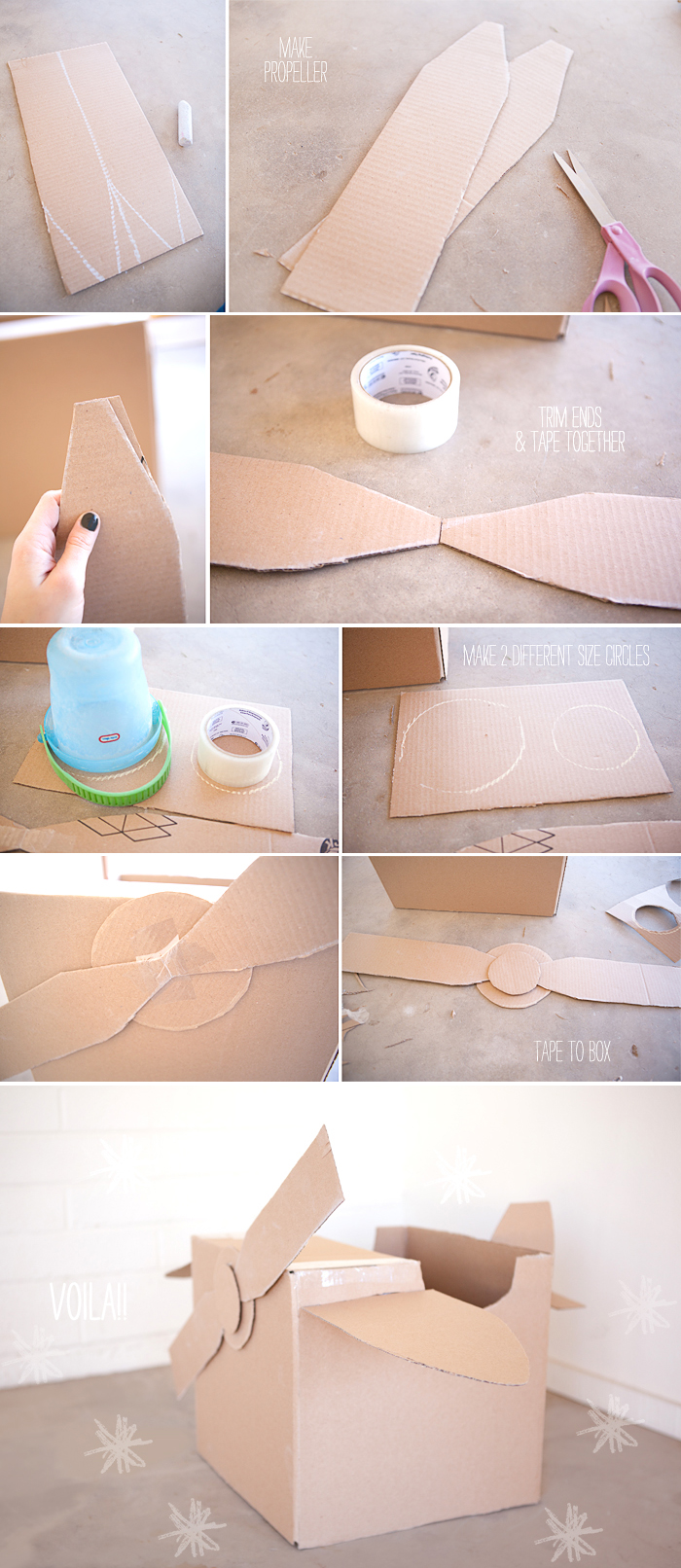 DIY project for kids - cardboard airplane