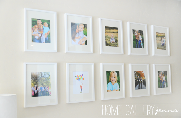 family home gallery wall frames