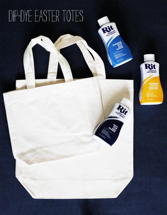 dip dye tote supplies