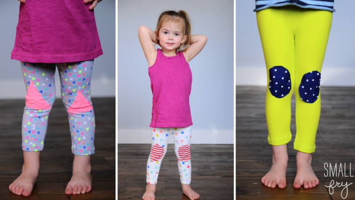 diy, knee patches, leggings, kids