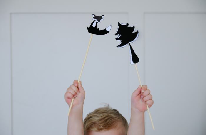 shadow, shadow puppets, projects, kids, woodland