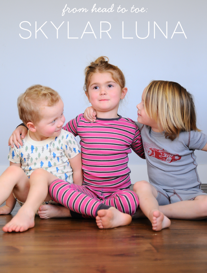from head to toe: Skylar Luna