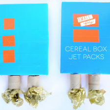 cereal box, duct tape, diy, boys, jet pack