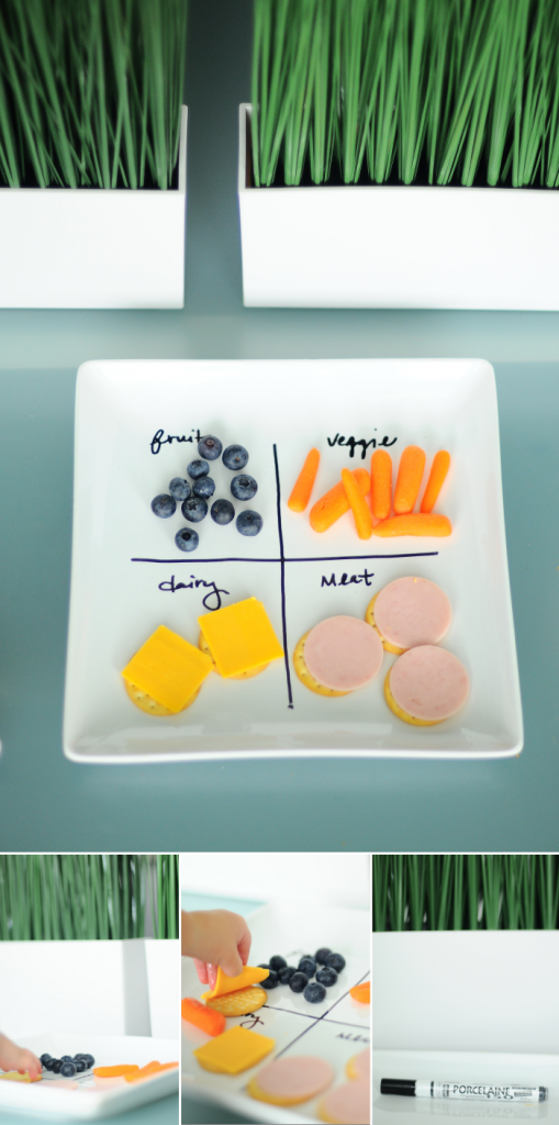 DIY Organize Food Plate for Kids