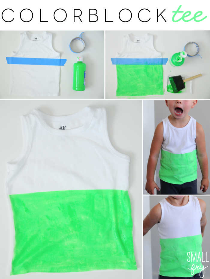 DIY Colorblock Tee