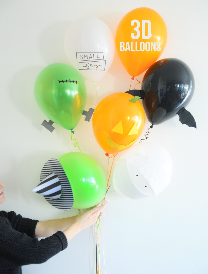 3d halloween balloons