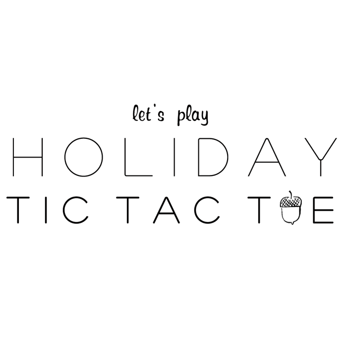 holiday tic tac toe neighbor gift