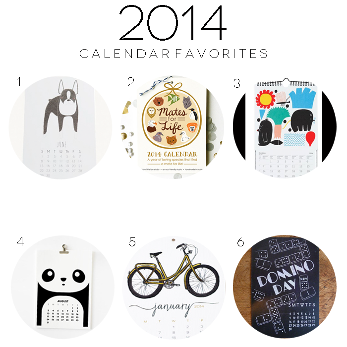 2014 calendar favorites