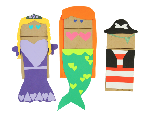 home made paper bag puppets