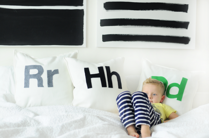 Helvetica Initial Pillows