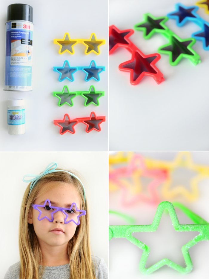 DIY Glow in the dark glasses