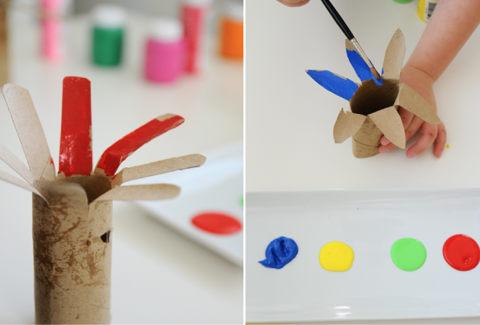 Cardboard Bouquet Kids Craft