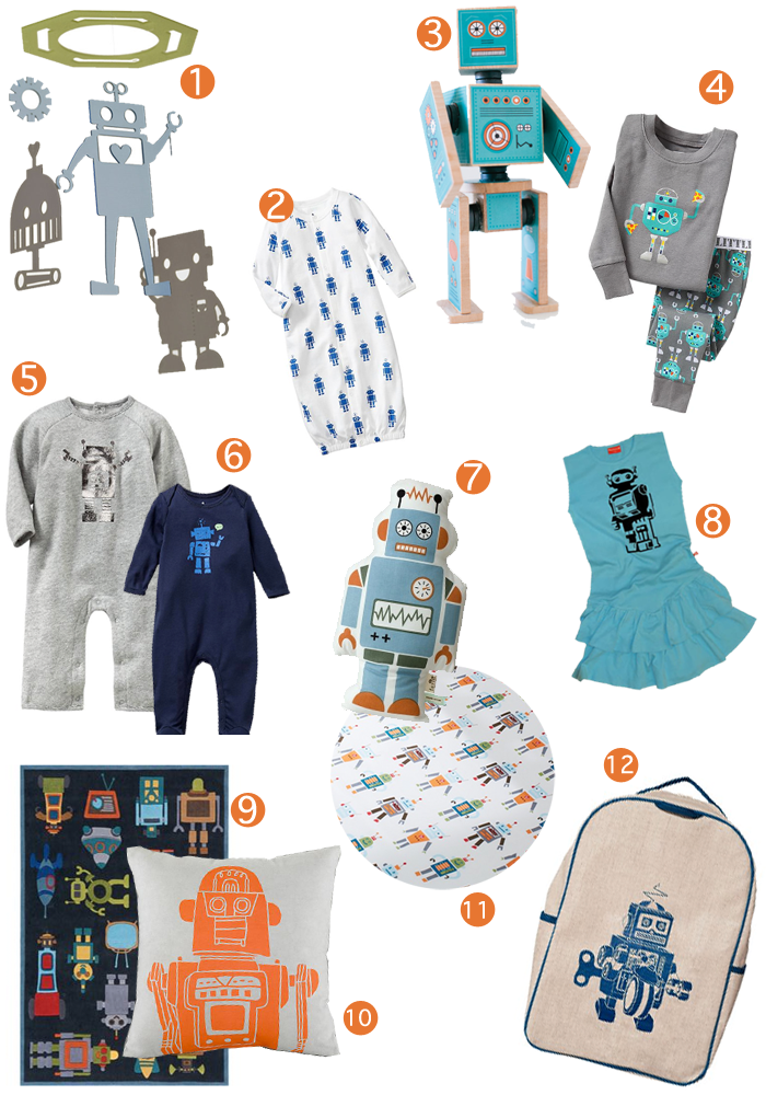 robot finds for your baby