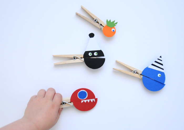 Monster Clothespin Puppets