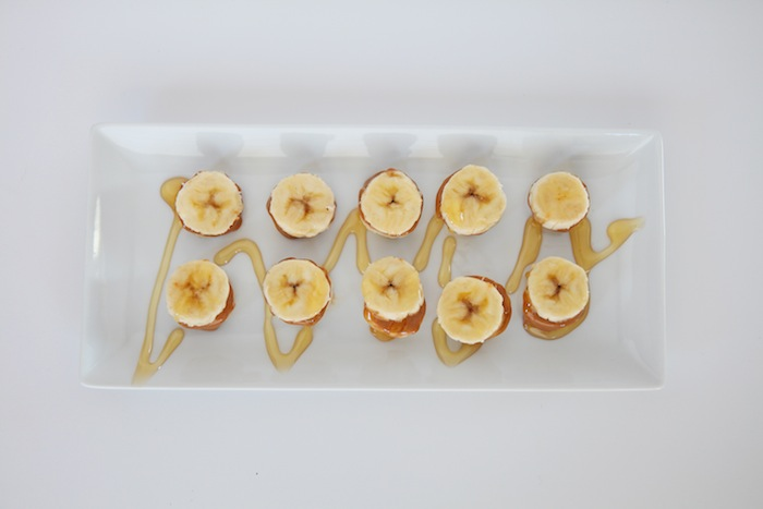 Paleo Snacks : Banana Butter Sandwiches