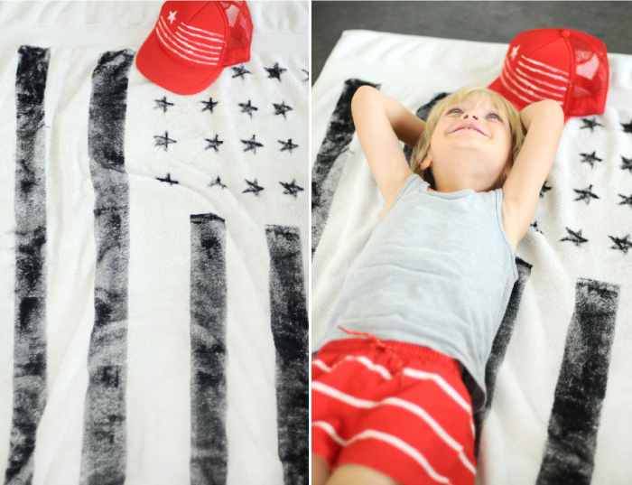 Flag Towel DIY