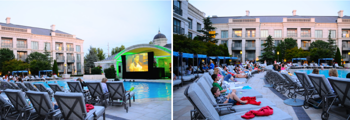 Poolside Movie at The Grand America