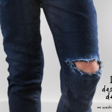 DIY Destroyed Jeans