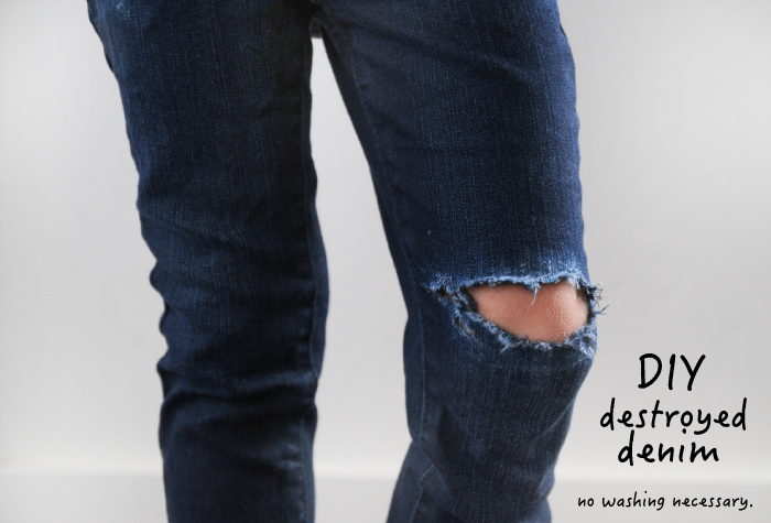 How to make mens destroyed jeans