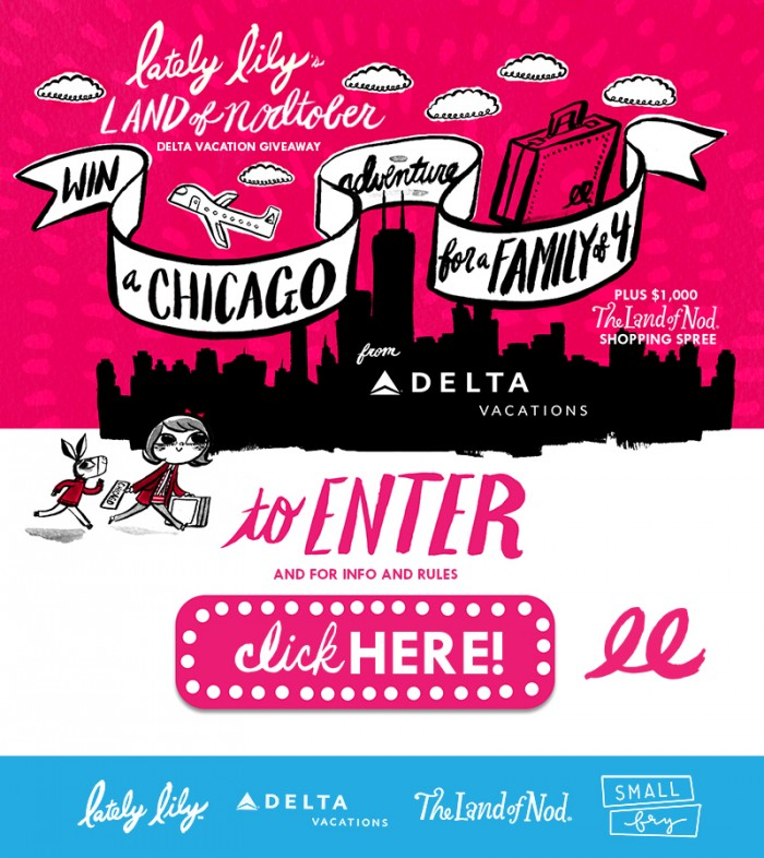 Win a Trip for a Family of 4 to Chicago + $1000 Land of Nod Shopping Spree!