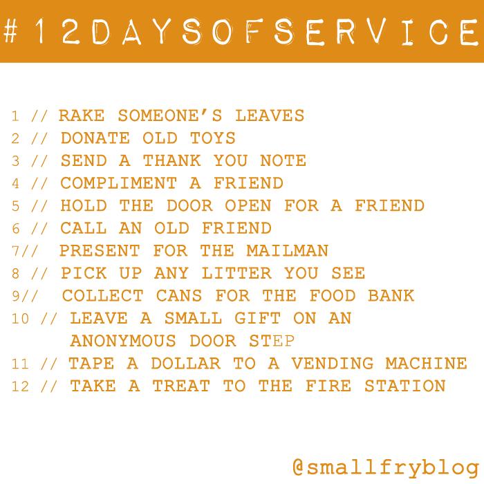 #12daysofservice