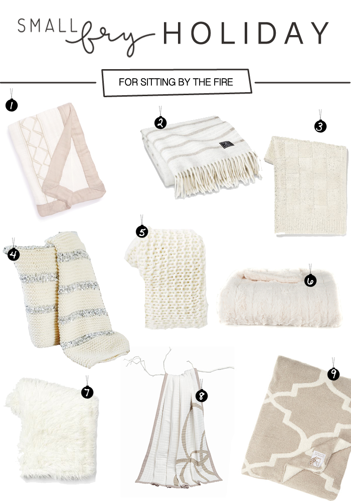 holiday gift guide: cozy blankets