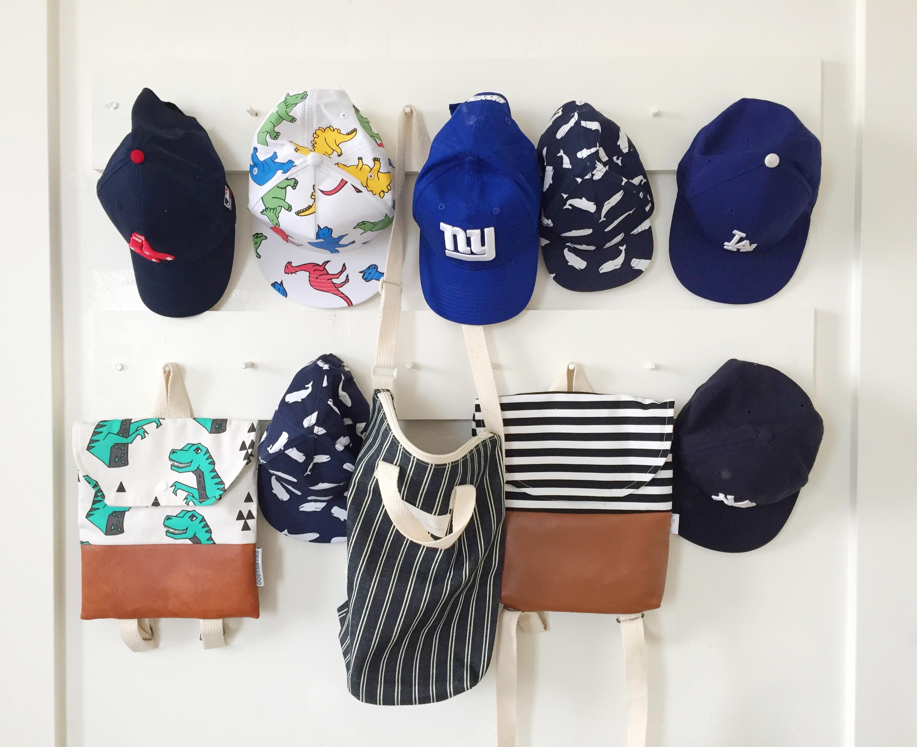 hat rack DIY