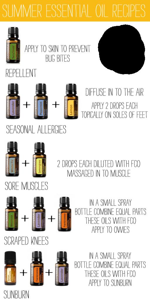 summer essential oil recipes