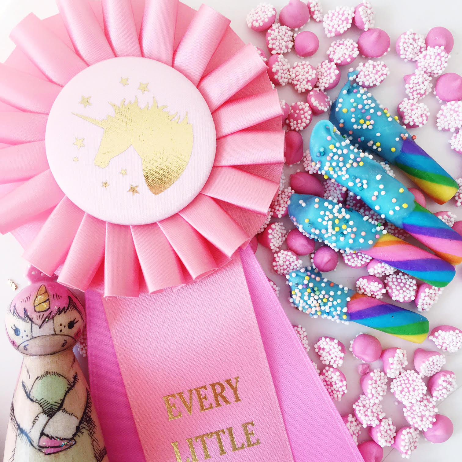 unicorn horn party sweets