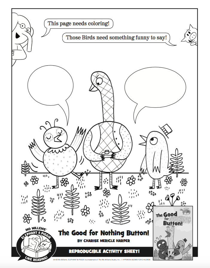 Elephant and Piggie Coloring Pages