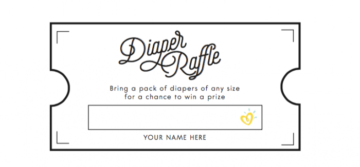 Diaper Raffle Printable