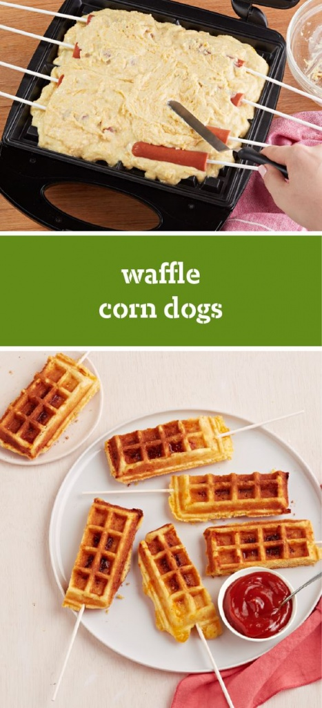 Corn Dog Waffle Sticks