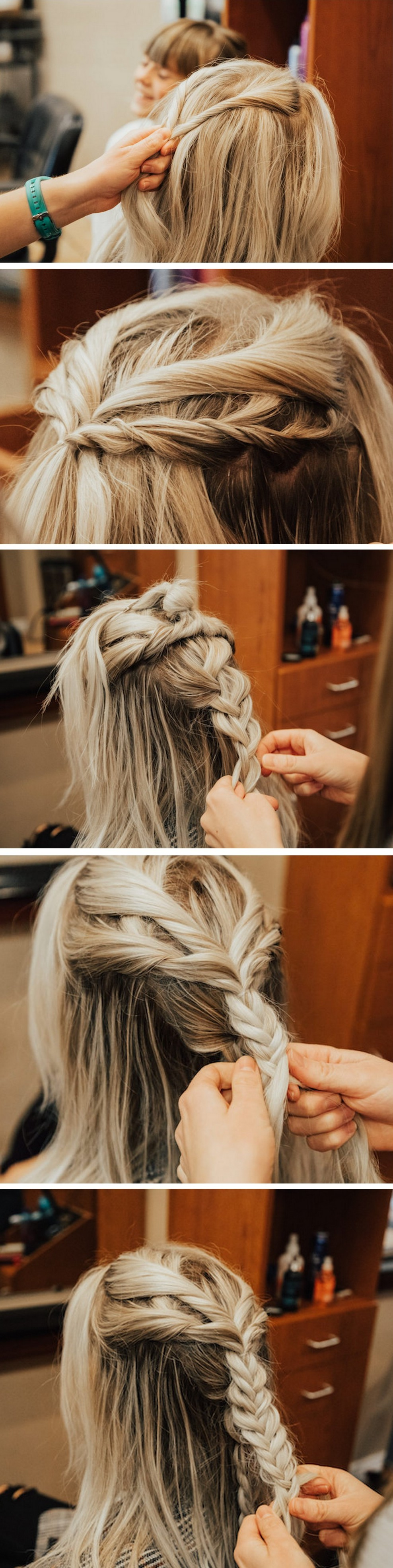 Half Up Braid How To