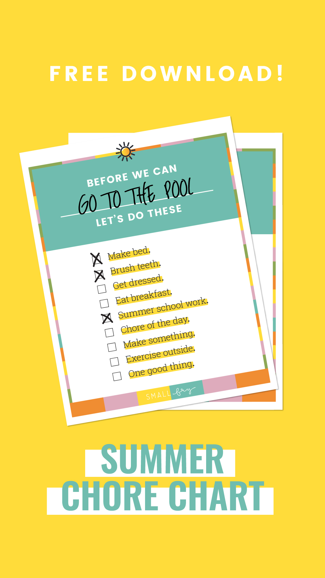 summer morning routine printable!