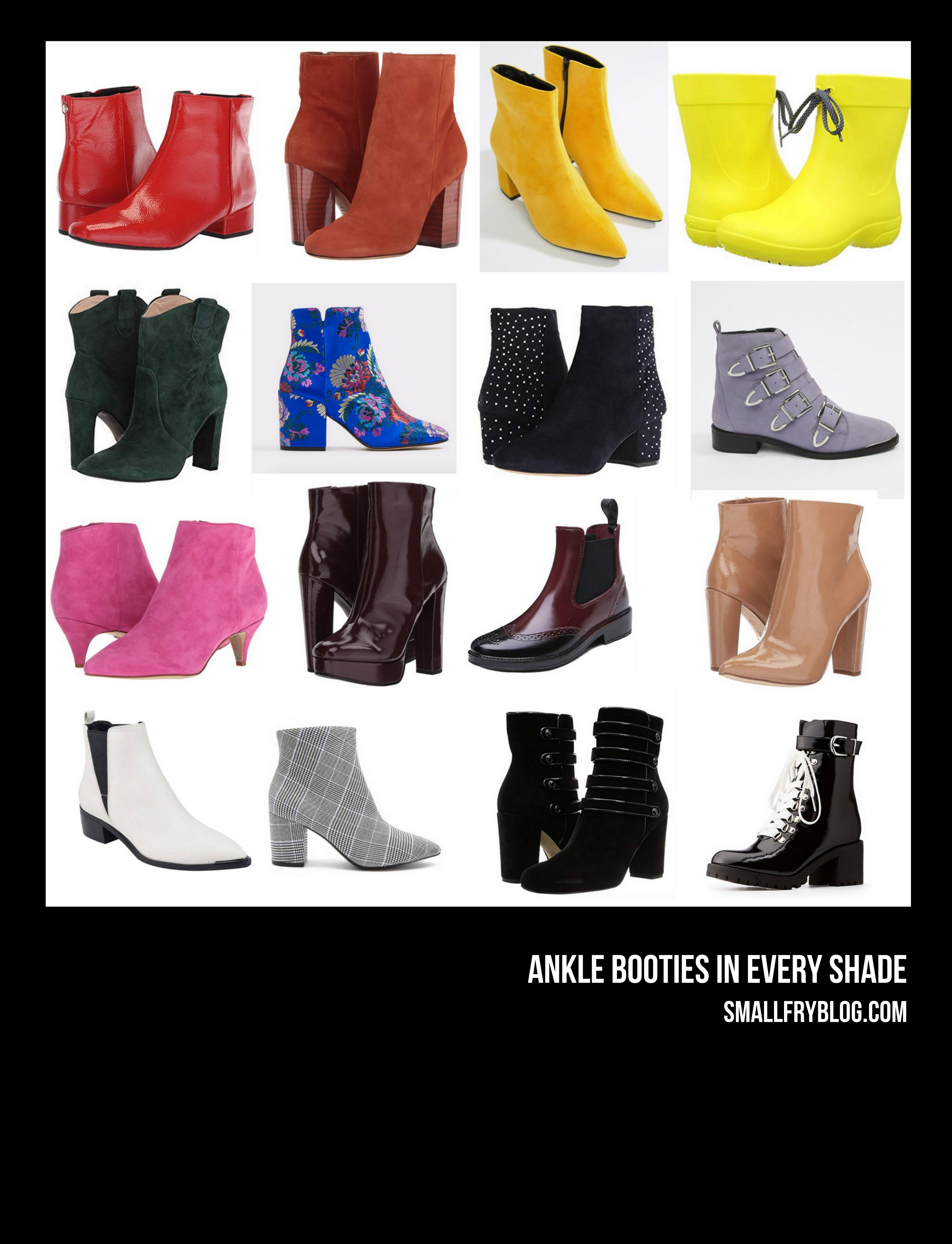 ankle booties in every color