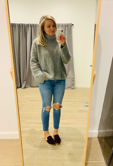 f4a90009 10.30 – New jeans alert and they're only $39! True to size maybe a titch  small. // Pumps // Old Zara Top. White marble Loopy case + the Glow Red  glow in the ...