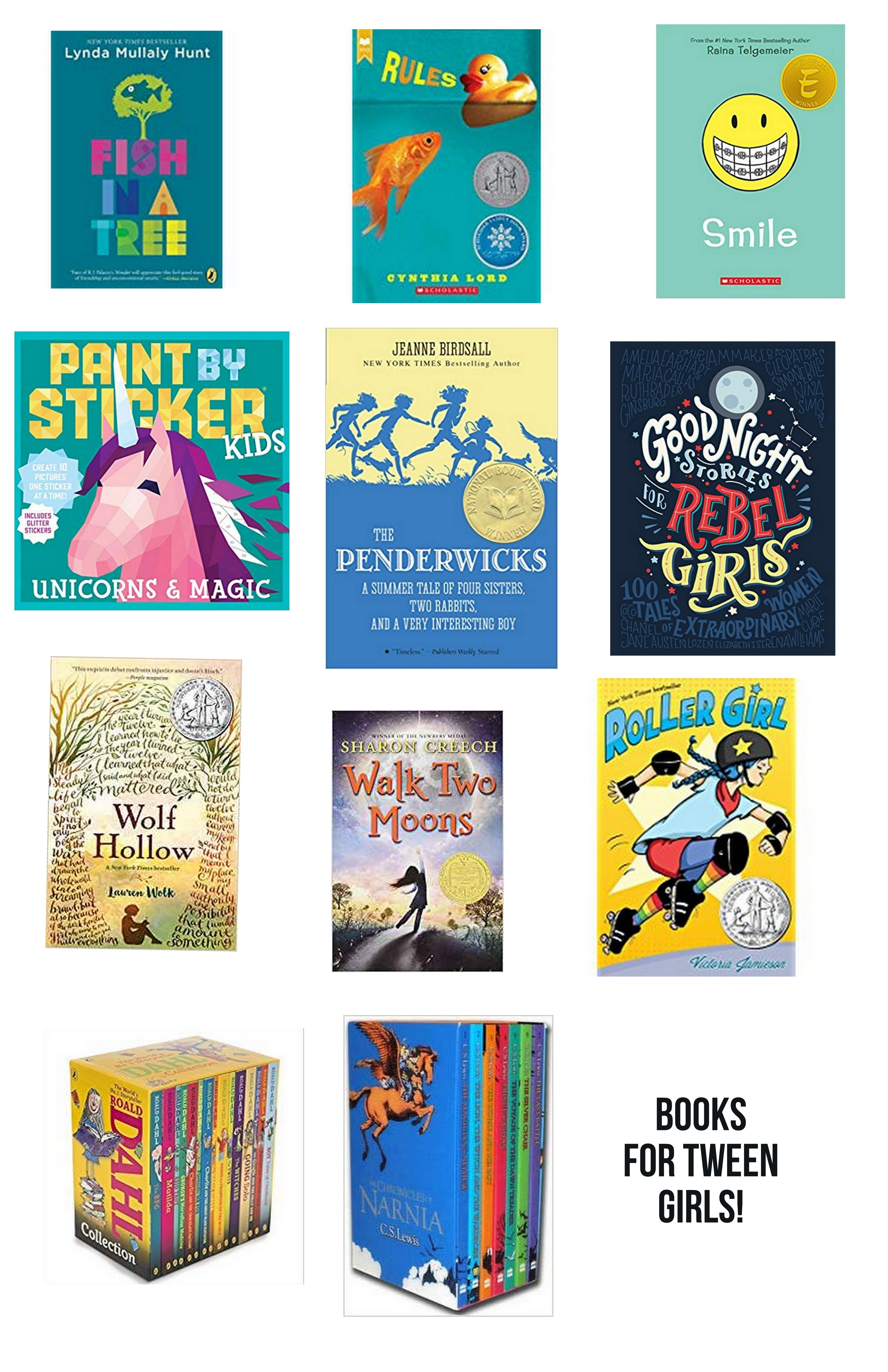 books for tween girls!