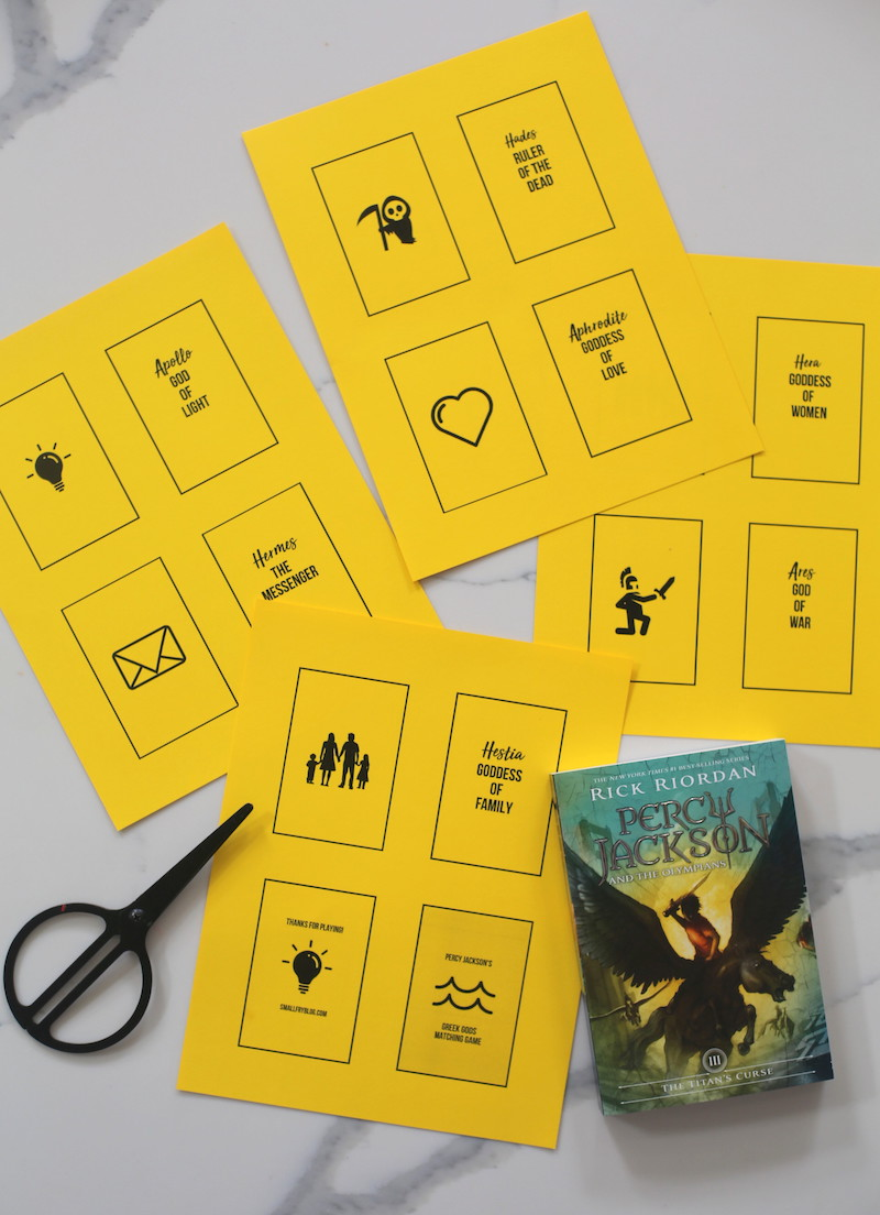 Greek Gods Matching Game Printable