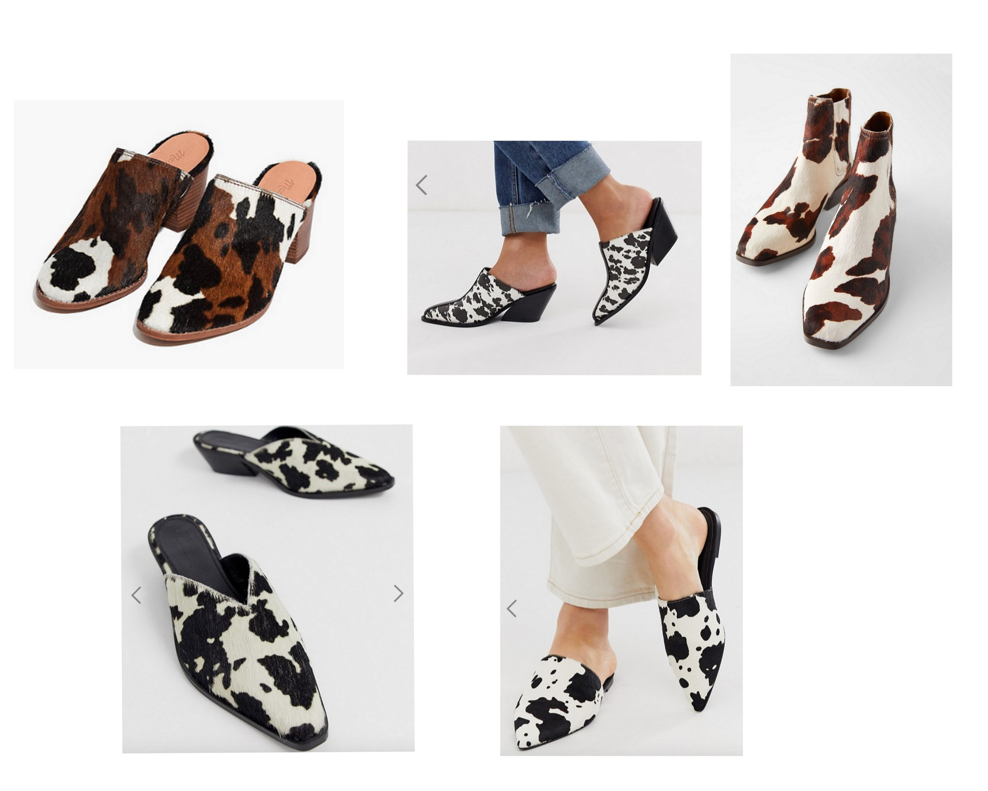 COW HIDE SHOES | FALL TRENDS