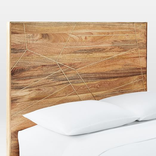 Brass Inlay Headboard