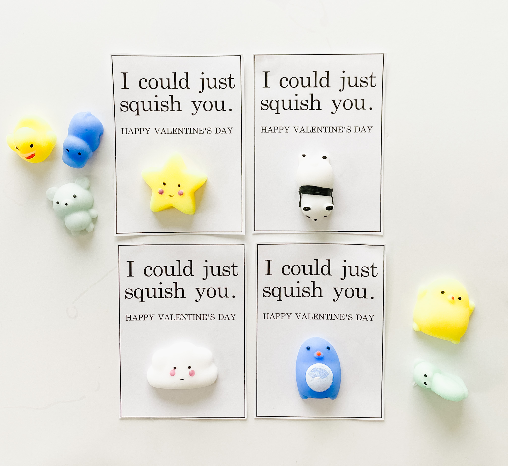 Squish You! || 20 Valentine's Printables || Small Fry