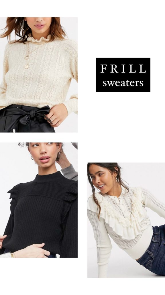 FALL TRENDS 2020 - FRILLED SWEATERS